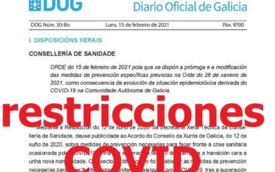 Nuevas restricciones COVID 15-02-2021